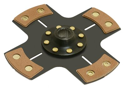 "Racing 4 Pad ""QUICK LOCK™"" Solid Hub Clutch Disc"